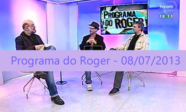 """Photo of Rubem Penz e o publicitário Gerson Kauer no """"Programa do Roger"""""""
