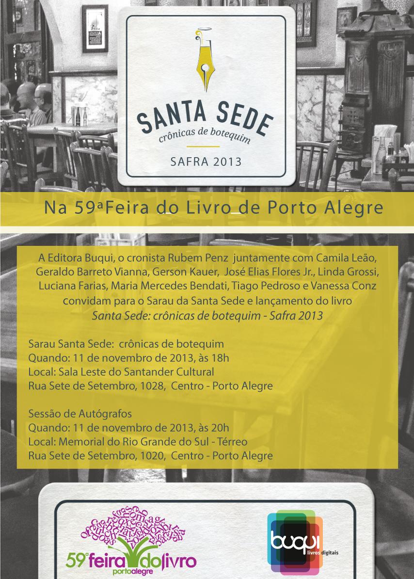 Photo of Dia 11, Sarau e Autógrafos da Santa Sede, crônicas de botequim